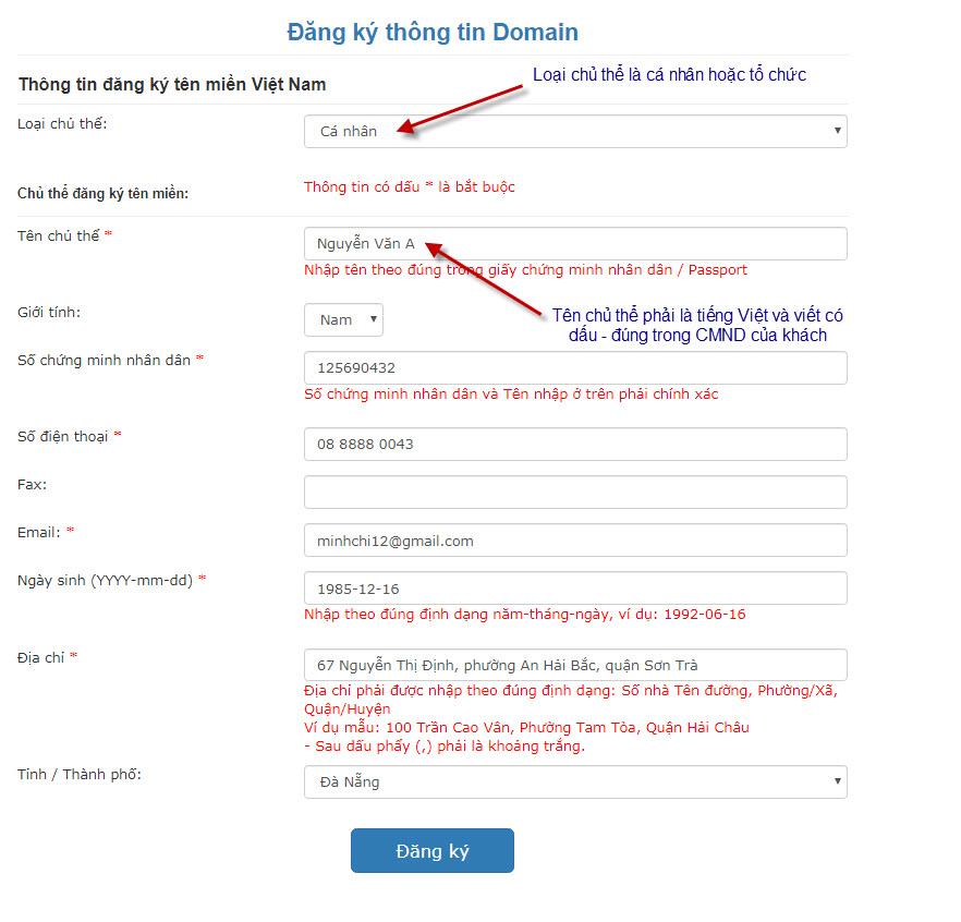 Hướng dẫn đăng ký tên miền domain