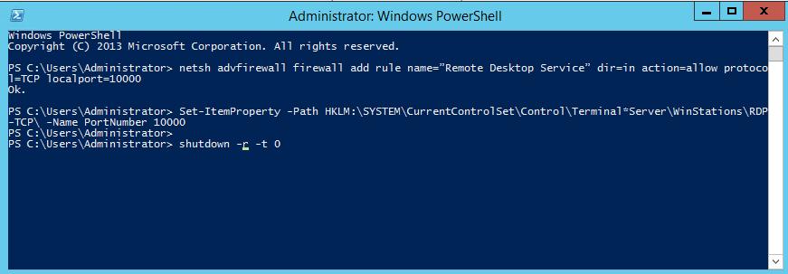 Thay đổi port remote VPS Windows 2012